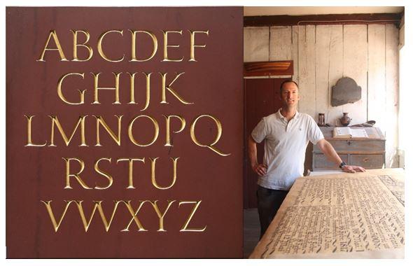 Nicholas Benson's Alphabet Stone